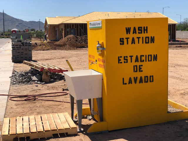Hand Washing Station For Home Builders - Go To Services